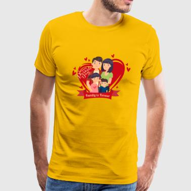 Happy Parents Day -Red Heart- Best Selling Design - Men's Premium T-Shirt