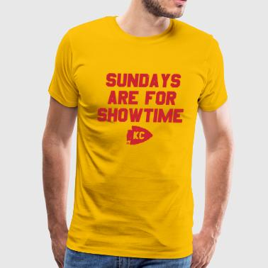 Kansas City FOOTBALL: Sundays Are For Showtime (Red) - Men's Premium T-Shirt