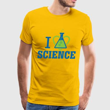 I LOVE SCIENCE - March For Science - Men's Premium T-Shirt
