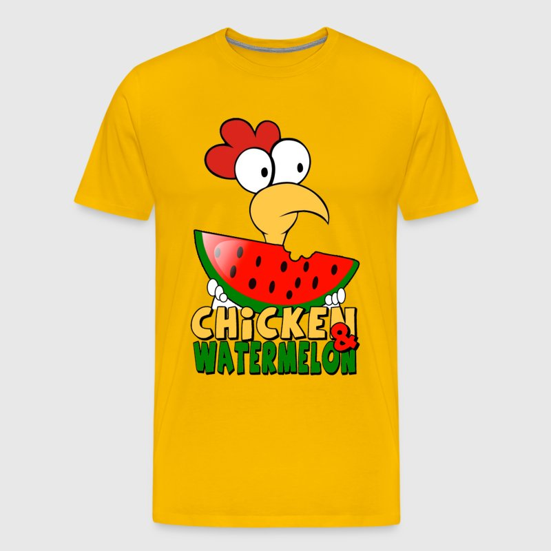 Chicken & watermelon - Men's Premium T-Shirt