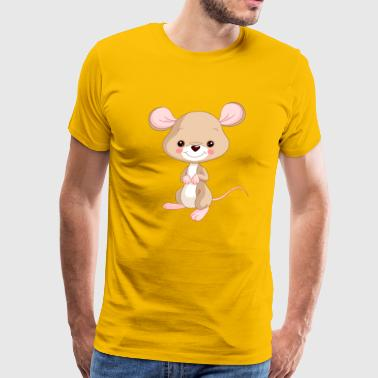 Cute Cartoon Mouse - Men's Premium T-Shirt