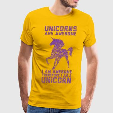 unicorn are awesome - Men's Premium T-Shirt