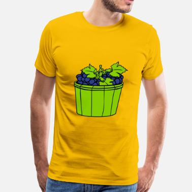 Grape Harvest grape grapes harvest wine stomp tasty bucket vat o - Men's Premium T-Shirt