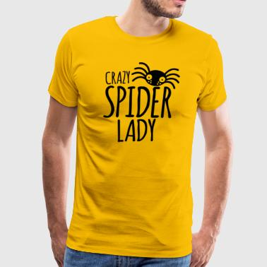 crazy spider lady - Men's Premium T-Shirt