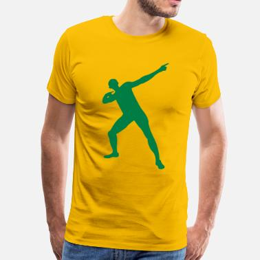Bolt Pose Usain Bolt posing - Men's Premium T-Shirt