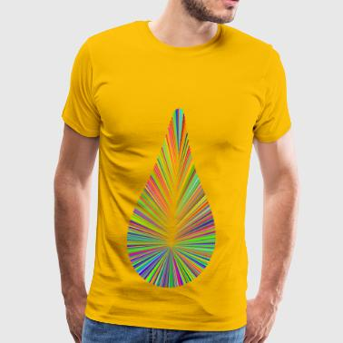 Technicolor Tear Drop - Men's Premium T-Shirt