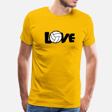 I Love Volley Ball I LOVE VOLLEYBALL ball - Men's Premium T-Shirt