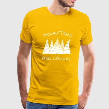 outdoor mountains Mountains are calling - Men's Premium T-Shirt