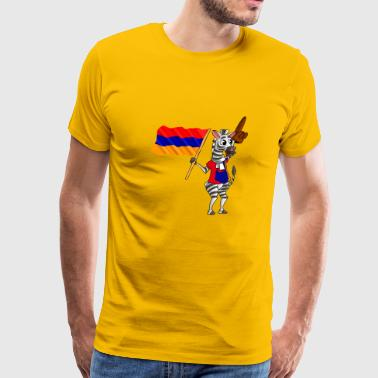 An Armenian Zebra - Men's Premium T-Shirt