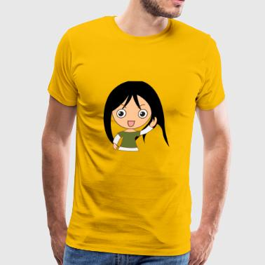 girl anime - Men's Premium T-Shirt