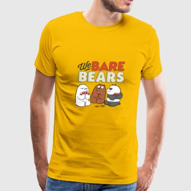 We Bare Bears Game Cards - Men's Premium T-Shirt
