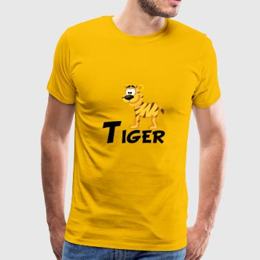 Cartoon Tiger - Men's Premium T-Shirt