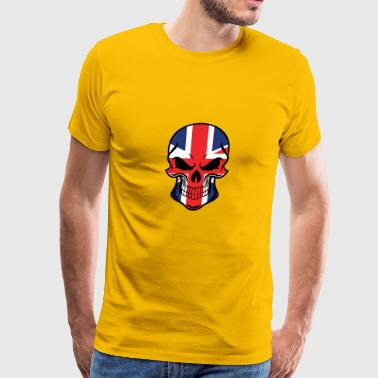 British Flag Skull - Men's Premium T-Shirt