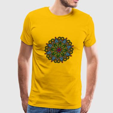 Mandala Meditation Art - Men's Premium T-Shirt