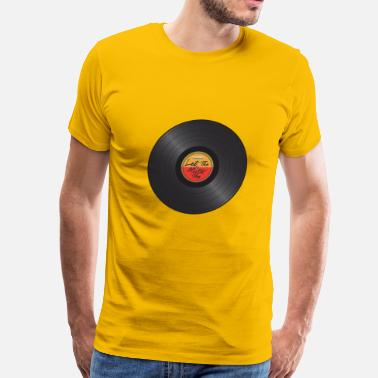 Phonograph Let the music play on Record Player Vinyl LP - Men's Premium T-Shirt
