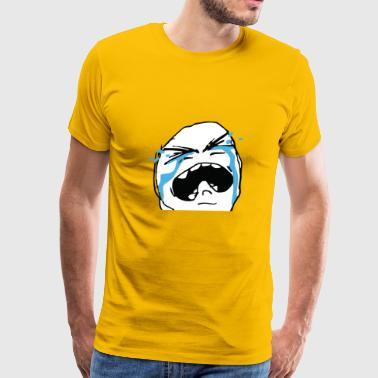 Crying meme face - Men's Premium T-Shirt