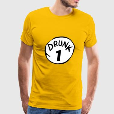 Drunk 1 St Patrick Day Funny Drunk Beer Pong Drunk - Men's Premium T-Shirt