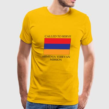 Armenia Yerevan LDS Mission Called to Serve Flag - Men's Premium T-Shirt
