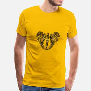 Guardian Angel Symbol Angel Wings Feathers Guardian Archangel Freedom - Men's Premium T-Shirt