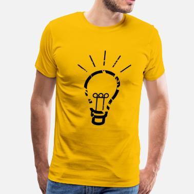 Bulb light bulb - Men's Premium T-Shirt