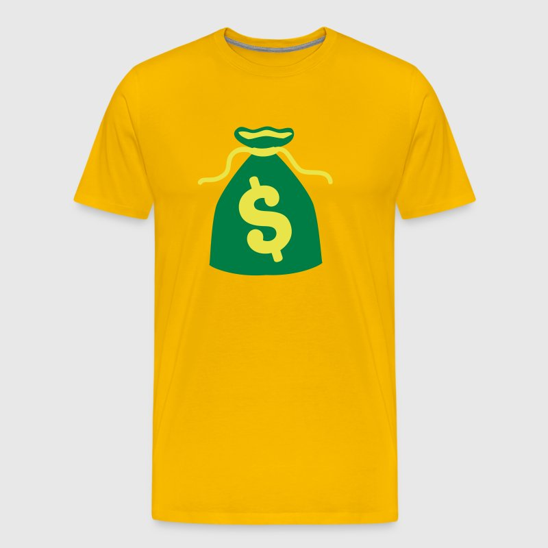 green money bag dollars $ - Men's Premium T-Shirt