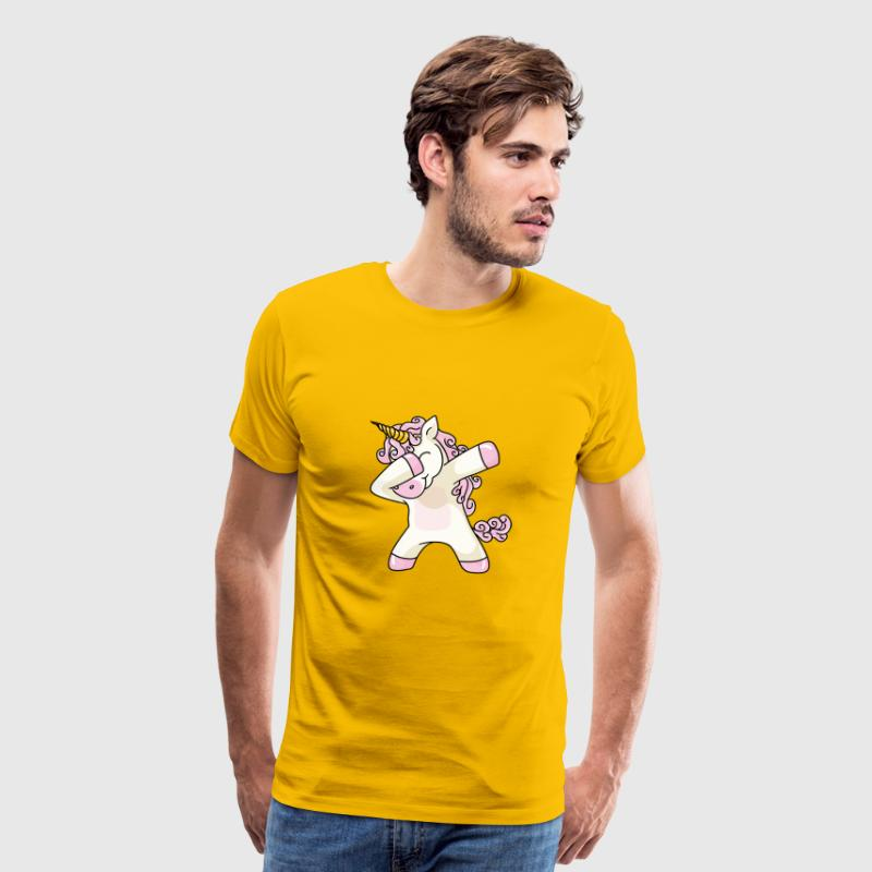 Unicorn Cute Dabbing - Men's Premium T-Shirt