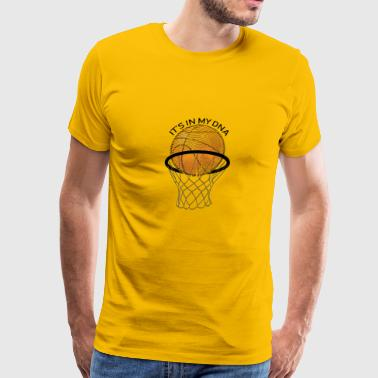 Gift For Basketball Coach Basketball Its in my DNA Gift - Men's Premium T-Shirt