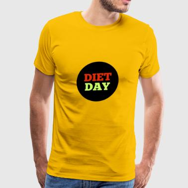 Diet Day Shirt Vegan Healthy - Men's Premium T-Shirt
