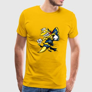 Cartoon Blue Angels F/A-18 Hornet - Men's Premium T-Shirt