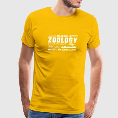 I Majored In Zoology Shirt - Men's Premium T-Shirt