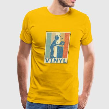 Retro Vintage Style Vinyl Turntable DJ Disco Party - Men's Premium T-Shirt