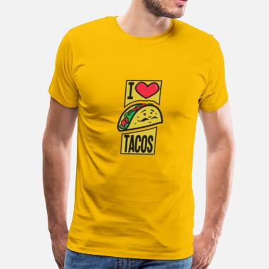 Delicacy I Love Tacos Colored - Men's Premium T-Shirt