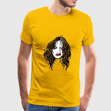 Kiffen joint girl marihuana - Men's Premium T-Shirt