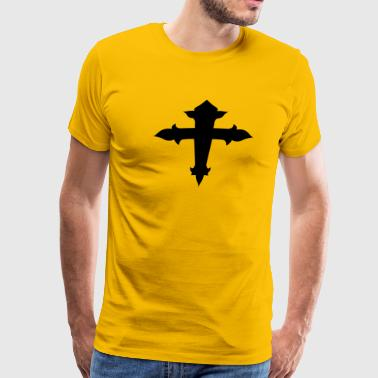 Fancy Crosses cool fancy cross with an arc - Men's Premium T-Shirt
