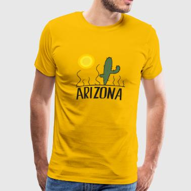 State Of Arizona Arizona Cactus - Men's Premium T-Shirt