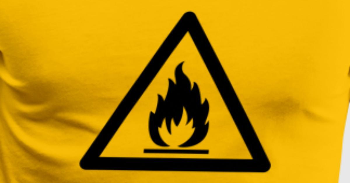Hazard Symbol Flammable Substance By Thinkstuffs Spreadshirt