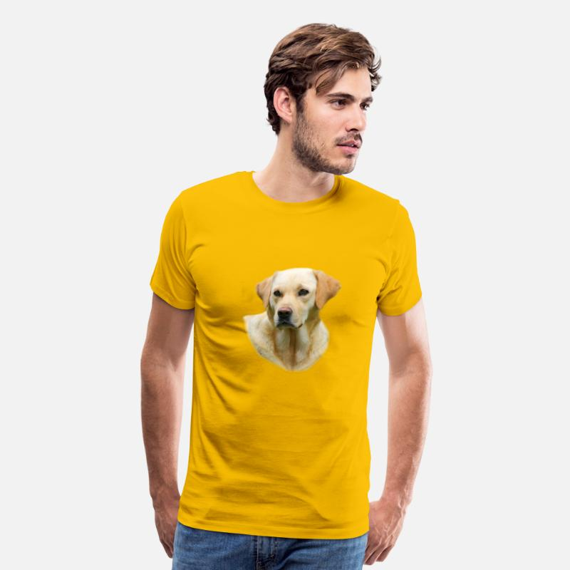 Labrador T-Shirts - Yellow Lab Worn On Hangover 2 Movie - Men's Premium T-Shirt sun yellow