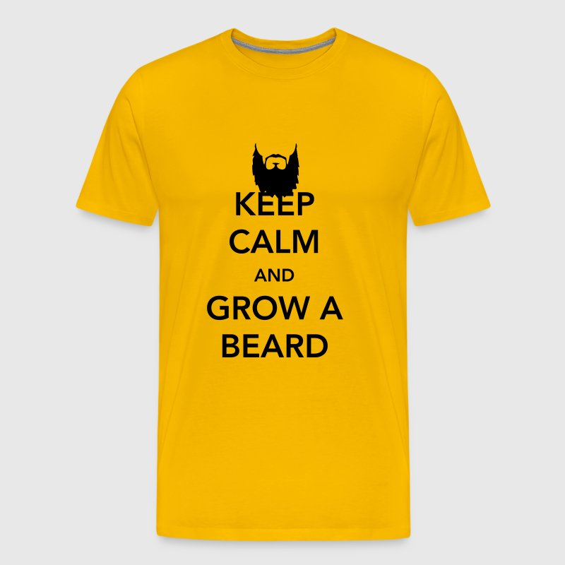 Keep Calm and Grow a Beard - Men's Premium T-Shirt