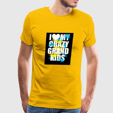 I heart my crazy grand kids - Men's Premium T-Shirt
