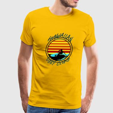 Hawaiian Surf Club - Men's Premium T-Shirt