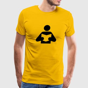 Book - Read - Men's Premium T-Shirt