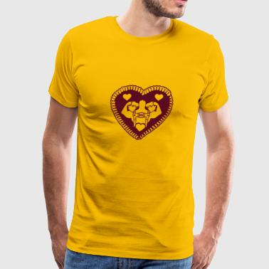 Gingerbread heart, love, cool, beer, jug, drink, b - Men's Premium T-Shirt