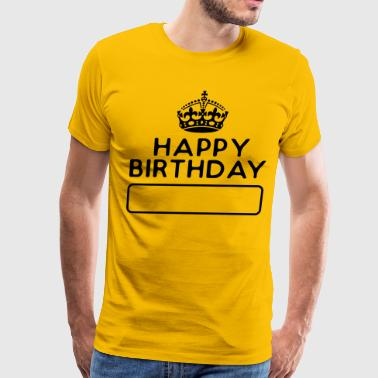 Wishes HappyBirthday - Keep Calm - Men's Premium T-Shirt