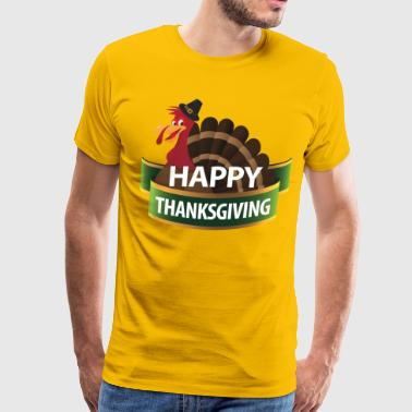 Happy Thanksgiving Day Turkey 11 - Men's Premium T-Shirt