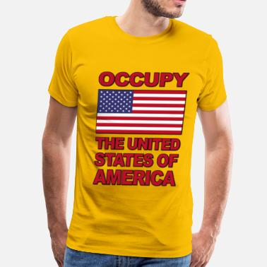 Anti Wall Street Occupy The United States of America - Men's Premium T-Shirt
