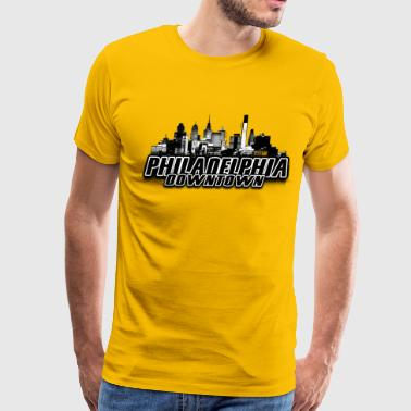 philadelphia downtown Skyline - Men's Premium T-Shirt
