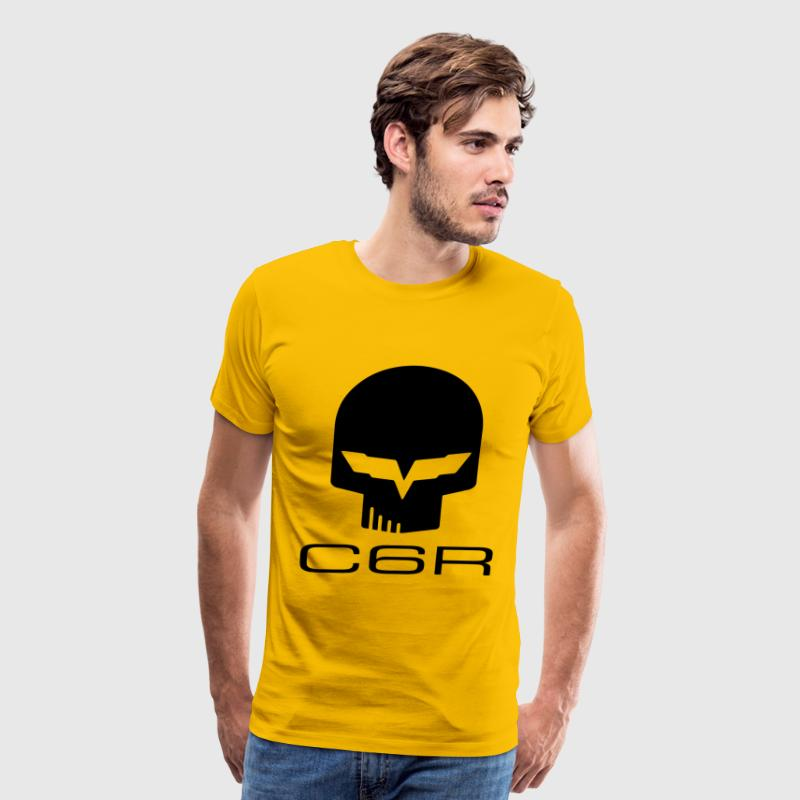 CORVETTE C6R SKULL - Men's Premium T-Shirt