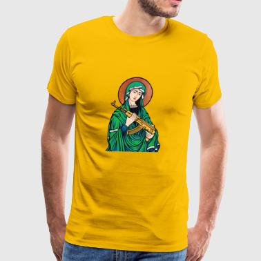 Virgin with AK-47 - Men's Premium T-Shirt