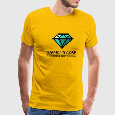Diamond Corp - The Miners Best Friend (dd print) - Men's Premium T-Shirt