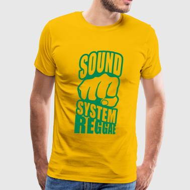 sound system reggae - Men's Premium T-Shirt
